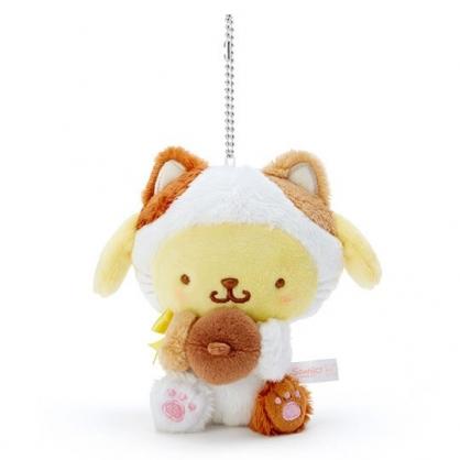 〔小禮堂〕布丁狗 絨毛玩偶娃娃吊飾《黃》鑰匙圈.掛飾.變裝貓咪系列