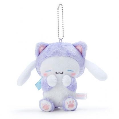 〔小禮堂〕大耳狗 絨毛玩偶娃娃吊飾《紫》鑰匙圈.掛飾.變裝貓咪系列