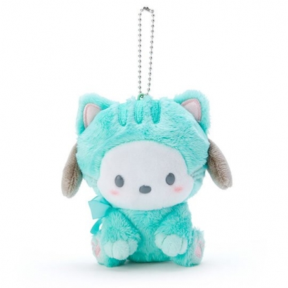 〔小禮堂〕帕恰狗 絨毛玩偶娃娃吊飾《綠》鑰匙圈.掛飾.變裝貓咪系列