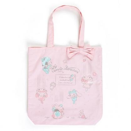 〔小禮堂〕Sanrio大集合 帆布直式側背袋《粉》手提袋.肩背袋.變裝貓咪系列