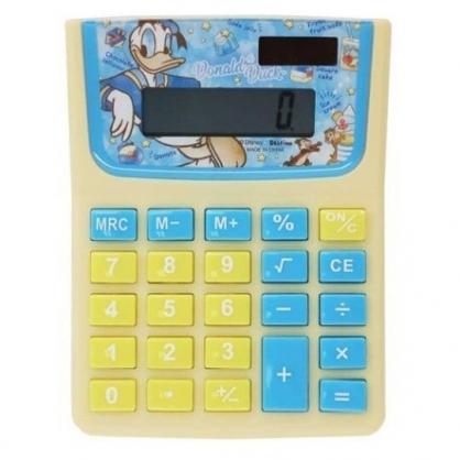 〔小禮堂〕迪士尼 唐老鴨 奇奇蒂蒂 8位元計算機《藍黃.星星》事務用品