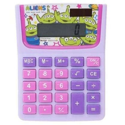 〔小禮堂〕迪士尼 三眼怪 8位元計算機《紫綠.大臉》事務用品
