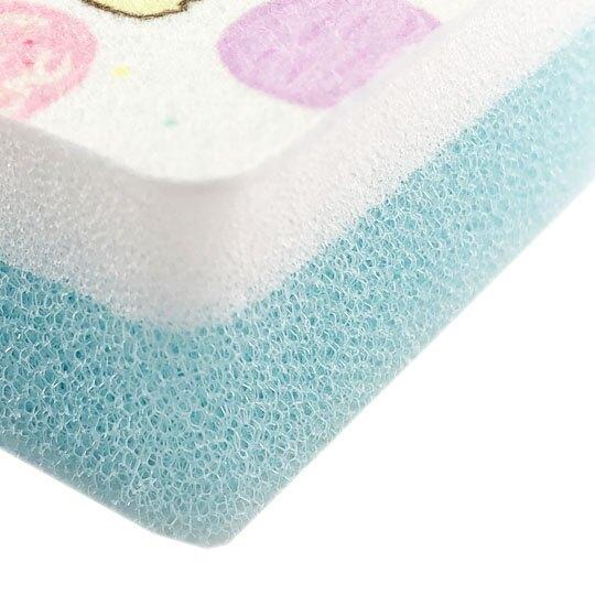 〔小禮堂〕角落生物 方形彩印廚房清潔海棉組《4入.粉黃.冰淇淋》菜瓜布.洗碗刷