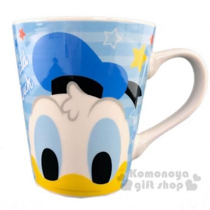 〔小禮堂〕迪士尼 唐老鴨 陶瓷馬克杯《藍白.大臉》咖啡杯.茶杯