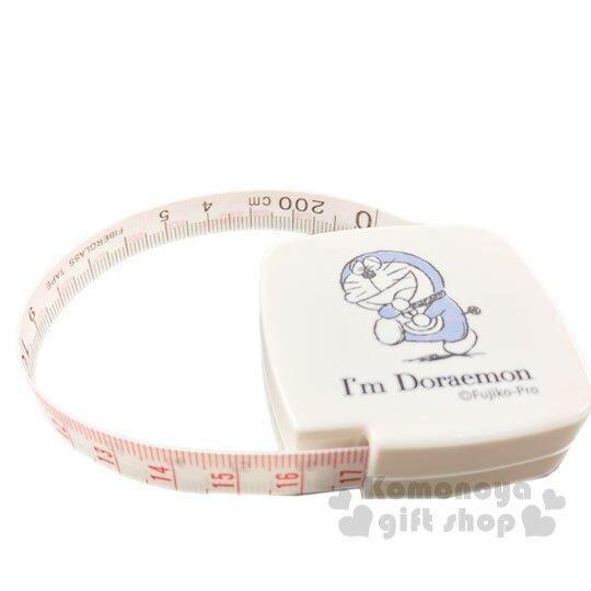 〔小禮堂〕哆啦A夢 日製方形伸縮捲尺《米藍.大笑》量尺