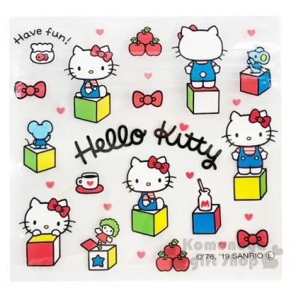 〔小禮堂〕Hello Kitty 方形透明夾鏈袋組《S.6入.白》分類袋.糖果袋.銅板小物