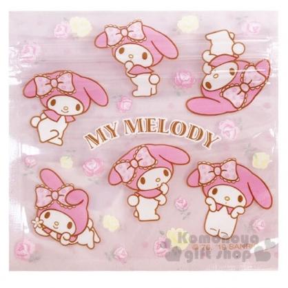 〔小禮堂〕美樂蒂 方形透明夾鏈袋組《S.6入.粉》分類袋.糖果袋.銅板小物