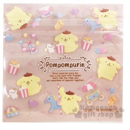 〔小禮堂〕布丁狗 方形透明夾鏈袋組《S.6入.橘》分類袋.糖果袋.銅板小物