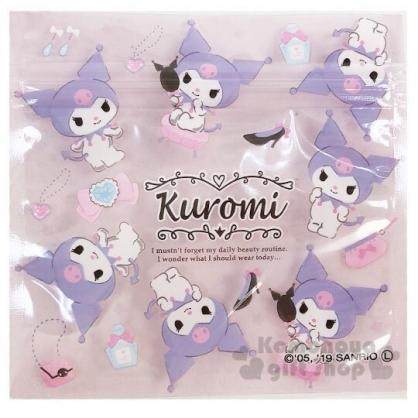 〔小禮堂〕酷洛米 方形透明夾鏈袋組《S.6入.紫》分類袋.糖果袋.銅板小物