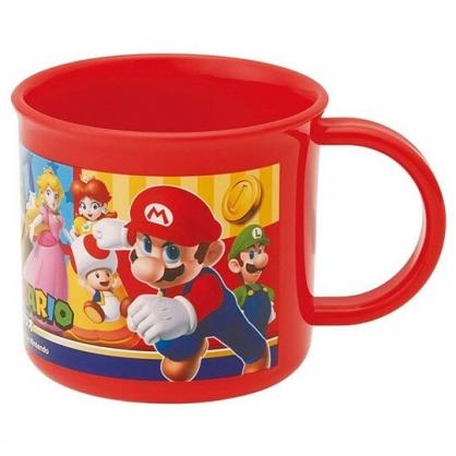 〔小禮堂〕超級瑪利歐 日製單耳塑膠小水杯《紅.角色》200ml.漱口杯.塑膠杯