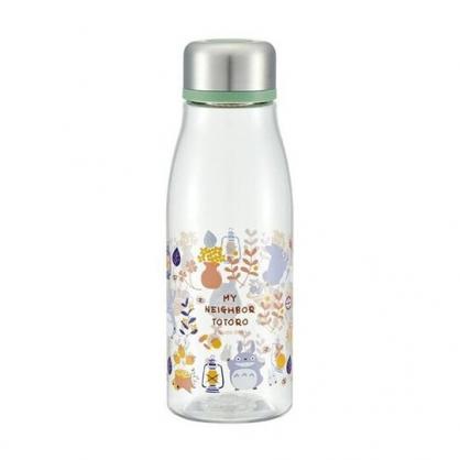 〔小禮堂〕宮崎駿Totoro龍貓 透明隨身冷水瓶《銀蓋.籃子》500ml.水壺.隨身瓶