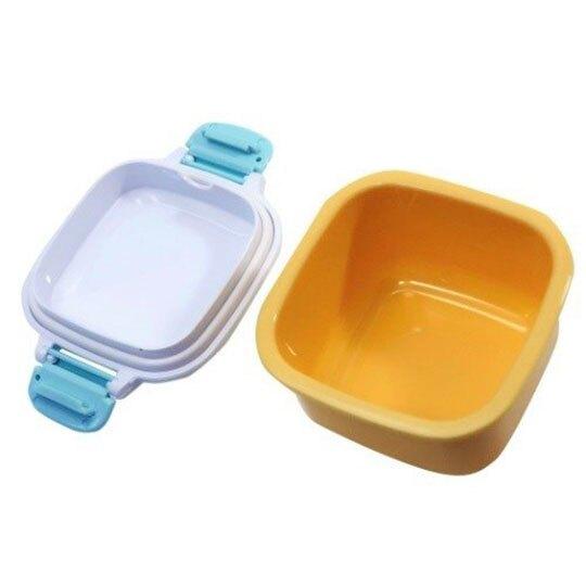 〔小禮堂〕史努比 日製迷你方形雙面扣便當盒《白黃.三明治》160ml.保鮮盒.餐盒