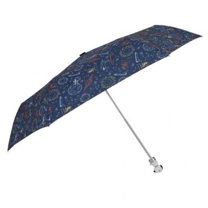 〔小禮堂〕史努比 抗UV造型柄折疊雨陽傘《深綠.太空裝》折傘.雨傘.雨具