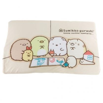 〔小禮堂〕角落生物 成人方形棉質記憶枕《米.寫字》枕頭.中枕.乳膠枕