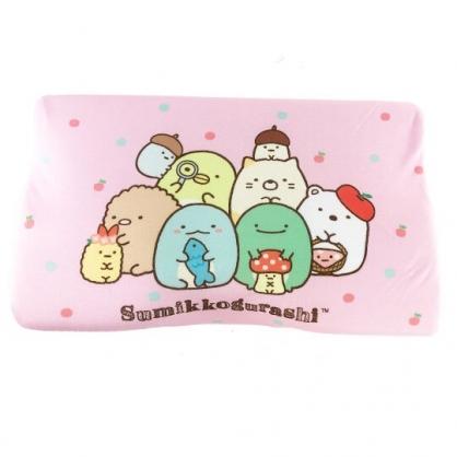 〔小禮堂〕角落生物 成人方形棉質記憶枕《粉.蘑菇》枕頭.中枕.乳膠枕