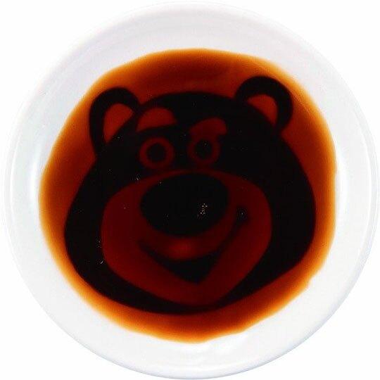 〔小禮堂〕迪士尼 玩具總動員 熊抱哥 迷你陶瓷圓盤《白.大臉》小菜碟.醬料碟