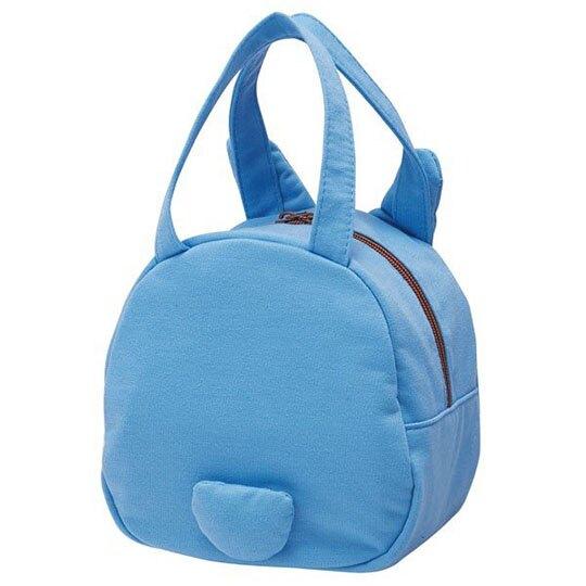 〔小禮堂〕宮崎駿Totoro龍貓 迷你全身造型棉質手提袋《藍》便當袋.外出袋