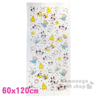 〔小禮堂〕迪士尼 TsumTsum 純棉紗布大浴巾《白.星星》60x120cm.毛巾