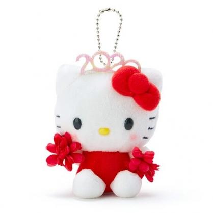 〔小禮堂〕Hello Kitty 絨毛玩偶娃娃吊飾《紅》掛飾.鑰匙圈.2020花漾系列