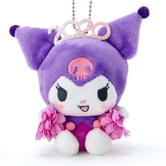 〔小禮堂〕酷洛米 絨毛玩偶娃娃吊飾《紫》掛飾.鑰匙圈.2020花漾系列