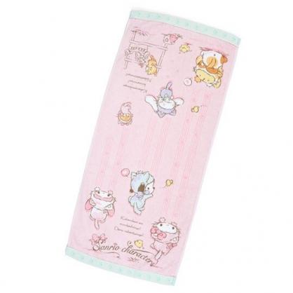 〔小禮堂〕Sanrio大集合 純棉割絨長毛巾《粉》34x76cm.長巾.變裝貓咪系列