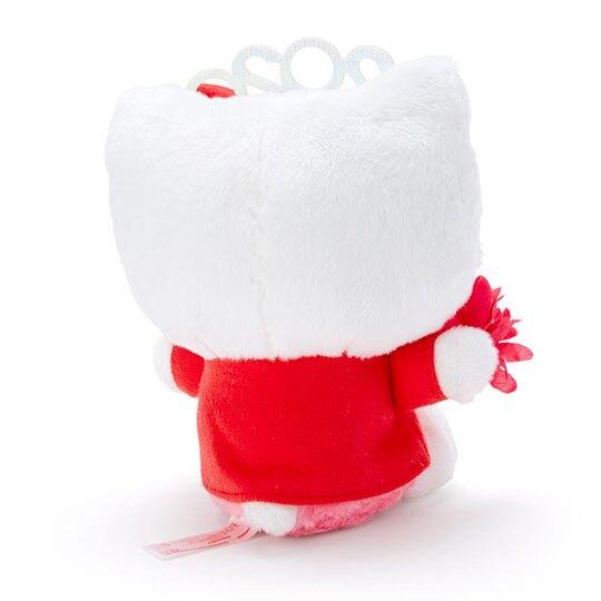 〔小禮堂〕Hello Kitty 沙包絨毛玩偶娃娃《S.紅》沙包玩具.擺飾.2020花漾系列