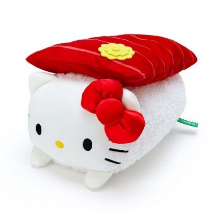 〔小禮堂〕Hello Kitty 壽司造型絨毛抱枕靠墊《紅白》靠枕.午睡枕