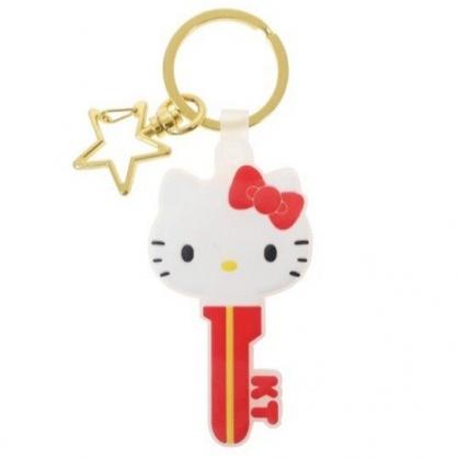 〔小禮堂〕Hello Kitty 大臉鑰匙造型矽膠鑰匙圈《紅白》掛飾.吊飾.鎖圈