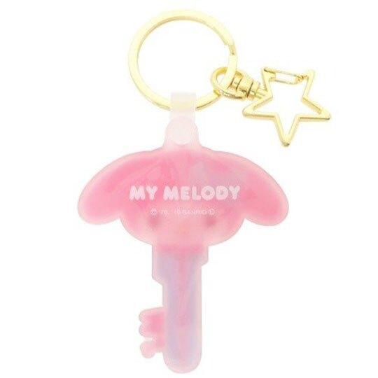〔小禮堂〕美樂蒂 大臉鑰匙造型矽膠鑰匙圈《粉藍》掛飾.吊飾.鎖圈