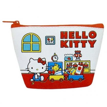 〔小禮堂〕Hello Kitty 皮質船形零錢包《紅白.玩具推車》耳機包.收納包