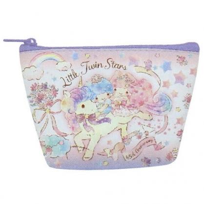 〔小禮堂〕雙子星 皮質船形零錢包《粉紫.獨角獸》耳機包.收納包