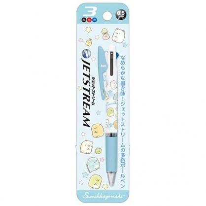 〔小禮堂〕角落生物 日製多色原子筆《藍白.星星》0.5mm.三色筆.Jetstream系列