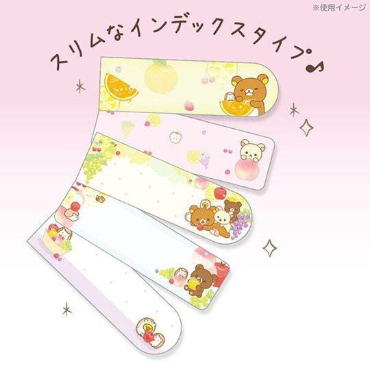 〔小禮堂〕懶懶熊 拉拉熊 日製自黏便利貼附收納夾《粉白.甜點》N次貼.書籤貼.標籤貼