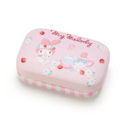 〔小禮堂〕美樂蒂 迷你方形皮質硬殼收納盒《粉》置物盒.飾品盒.春日新生活系列