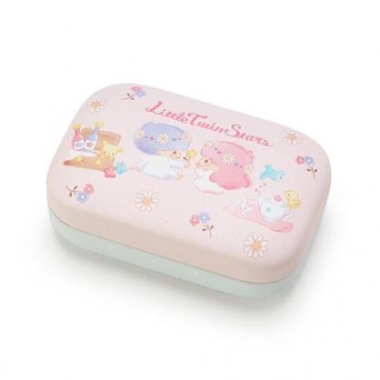 〔小禮堂〕雙子星 迷你方形皮質硬殼收納盒《粉》置物盒.飾品盒.春日新生活系列
