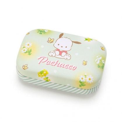 〔小禮堂〕帕恰狗 迷你方形皮質硬殼收納盒《綠》置物盒.飾品盒.春日新生活系列