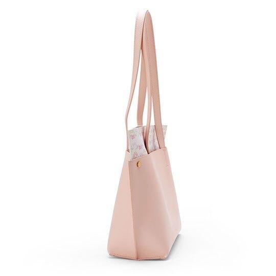 〔小禮堂〕美樂蒂 皮質扣式手提包側背包《粉》肩背包.春日新生活系列