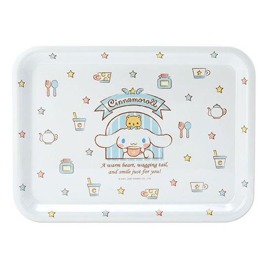 〔小禮堂〕大耳狗 方形美耐皿托盤《米》塑膠餐盤.水果盤.2020新生活系列
