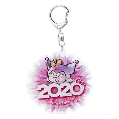 〔小禮堂〕酷洛米 花朵造型壓克力鑰匙圈《紫》掛飾.鎖圈.2020花漾系列