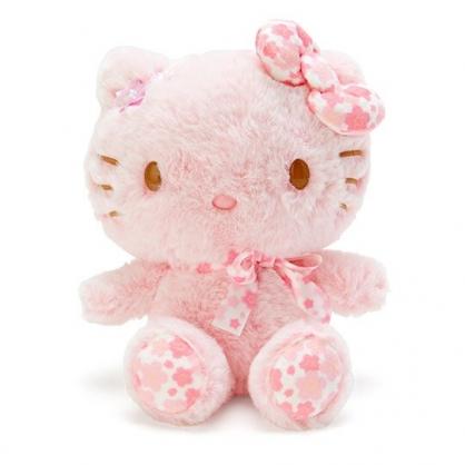 〔小禮堂〕Hello Kitty 絨毛玩偶娃娃《S.粉》玩具.擺飾.燦爛櫻花系列