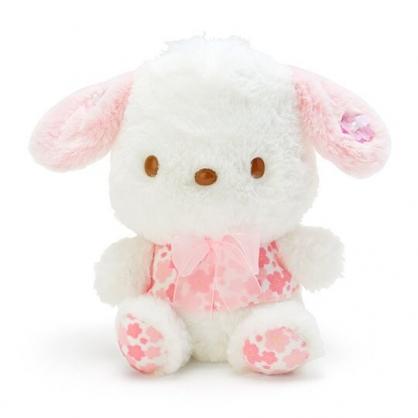 〔小禮堂〕帕恰狗 絨毛玩偶娃娃《S.白》玩具.擺飾.燦爛櫻花系列