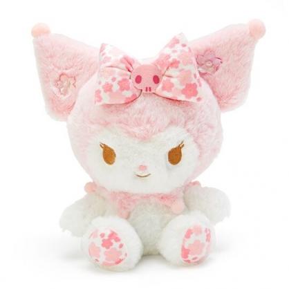 〔小禮堂〕酷洛米 絨毛玩偶娃娃《S.白》玩具.擺飾.燦爛櫻花系列