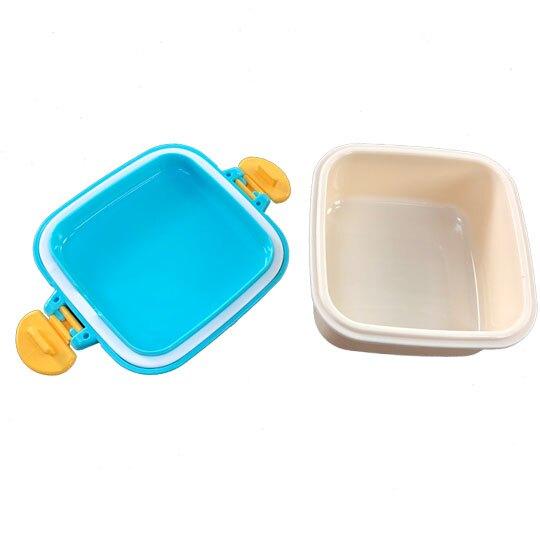 〔小禮堂〕迪士尼 玩具總動員 日製迷你方形雙面扣便當盒《綠米.文字方塊》160ml.保鮮盒.餐盒