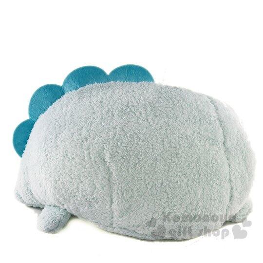〔小禮堂〕角落生物 恐龍 筒狀造型絨毛抱枕靠墊《藍》靠枕.絨毛玩偶
