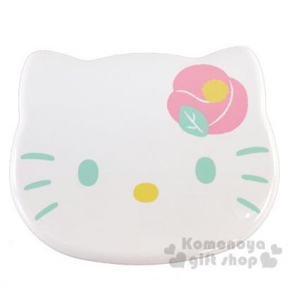 〔小禮堂〕Hello Kitty 大臉造型塑膠拿蓋收納盒《粉白》1700ml.冷食便當盒.置物盒