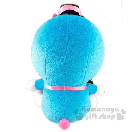 〔小禮堂〕哆啦A夢 x Hello Kitty 絨毛玩偶娃娃《L.粉藍》玩具.擺飾