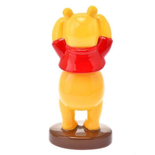 〔小禮堂〕迪士尼 小熊維尼 全身造型彈簧搖頭陶瓷擺飾《黃》搖搖公仔.模型
