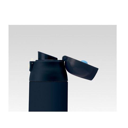 〔小禮堂〕史努比 超輕量彈蓋不鏽鋼保溫瓶《黑.拿狗碗》500ml.水壺.水瓶