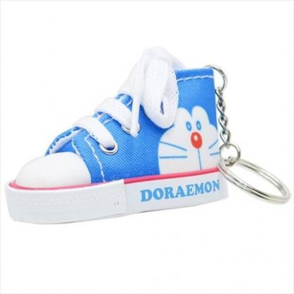 〔小禮堂〕哆啦A夢 帆布鞋造型吊飾《藍白》掛飾.鑰匙圈.鎖圈