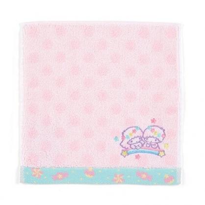 〔小禮堂〕雙子星 純棉無捻紗小方巾《粉.點點紋》20x20cm.手帕.毛巾
